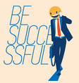 successful businessman with a smiley face instead vector image vector image