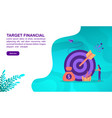 target financial concept with character template vector image vector image