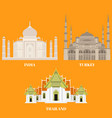 thailand turkey and india travel icons country vector image vector image