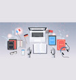translate bot at workplace modern robot vector image vector image