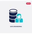 two color data engineering icon from general-1 vector image vector image