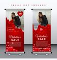 valentine sale banner-02 vector image vector image
