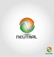 vortexneutral is letter n logo with circle vector image vector image