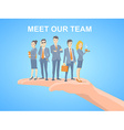 a business team of young business people vector image vector image