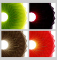 abstract bright technology circles background vector image vector image