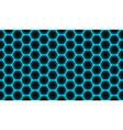 abstract geometric blue hexagon vector image