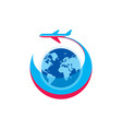 airplane - logo template concept vector image