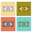 assembly flat icons poker dollar money vector image