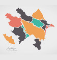 azerbaijan map with states and modern round shapes vector image vector image