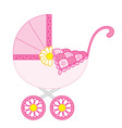 Baby Girl Stroller vector image vector image