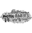 baby portrait photography text word cloud concept vector image vector image