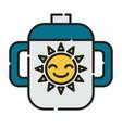 baglass icon design clip art color icon vector image