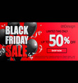 black friday sale banner inviting to shopping vector image vector image