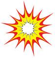 cartoon comic explosion blast vector image vector image