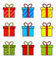 christmas present simple icon for christmas vector image vector image