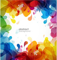 Colorful abstract background with flowers vector image