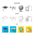 design of education and learning sign set vector image vector image