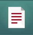 document icon or simbol isolated on modern vector image vector image