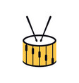drum graphic design template isolated vector image vector image