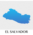 el salvador map in north america continent design vector image vector image