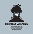 Erupting Volcano Natural Disaster vector image