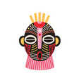 ethnic african tribal mask with open mouth and vector image vector image