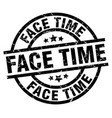 face time round grunge black stamp