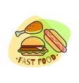 Fast Food emblem vector image