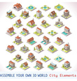 Game Set 03 Building Isometric vector image vector image