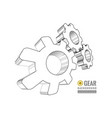 gear schematic vector image vector image