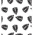 geometric seamless pattern Modern floral leaves vector image