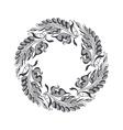 gray Art Nouveau style vector image vector image