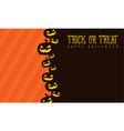 halloween background pumpkin style vector image vector image