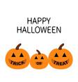 happy halloween pumpkin family mother father baby vector image vector image