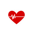 heart icon graphic design template vector image vector image
