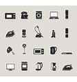 Home appliances and electronics icons set vector image vector image