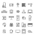home appliances icons from thin lines vector image