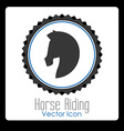 horse riding design vector image vector image