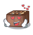 in love homemade sweet cake with almonds and cream vector image vector image