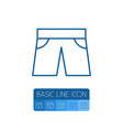 isolated shorts outline trunks cloth vector image