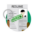 job search service vector image
