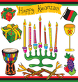 kwanzaa clipart elements and icons vector image vector image