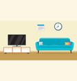 living room interior design vector image vector image