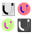 magnetism flat icon vector image vector image