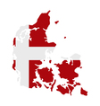 map of denmark with flag vector image vector image