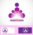 Meditation yoga zen logo vector image vector image