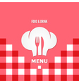 menu chef design background vector image vector image