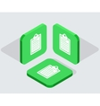 modern 3 isometric app icons vector image vector image