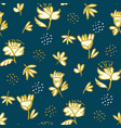 peasant decorative flower seamless pattern vector image vector image