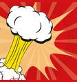 pop art explosion smoke cartoon vector image